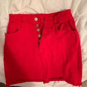 Red Brandy Melville Skirt